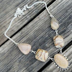 Ocean Jasper ~ Handcrafted 925 Necklace